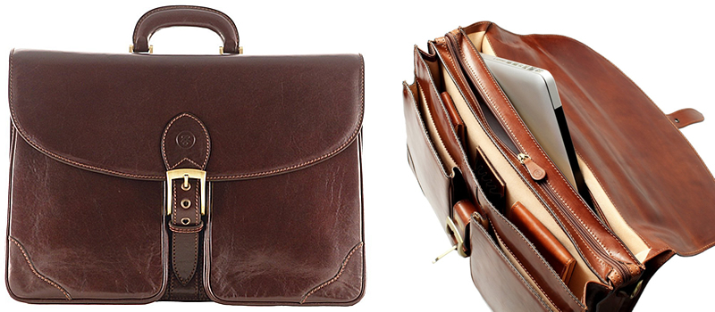 Maxwell Scott The Tomacelli3 Large Leather Briefcase For Men Canada Review