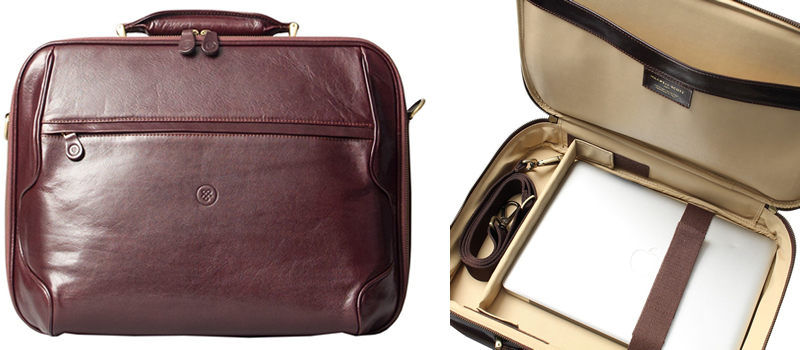 Maxwell Scott The Volterra Men's Leather Laptop Briefcase Canada Review