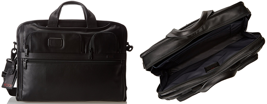 Tumi Alpha 2 Compact Large Screen Laptop Leather Brief Canada Review
