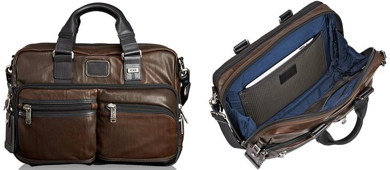 TUMI Alpha Bravo Andersen Slim Leather Laptop Bag Canada Review