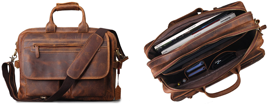 Kattee XZ102CE Vintage Leather Laptop Bag For Men Canada Review