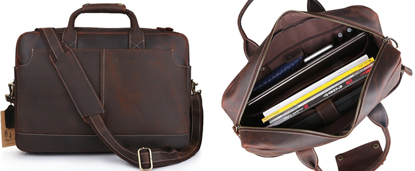 Kattee XZ369CE Vintage Leather Laptop Bag For Men Canada Review