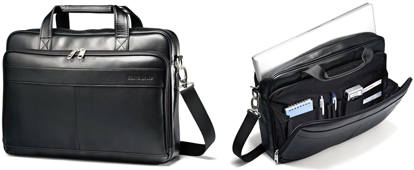 Samsonite Leather Slim Laptop Brief Review Canada